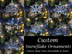 Custom Acrylic Snowflake Ornaments
